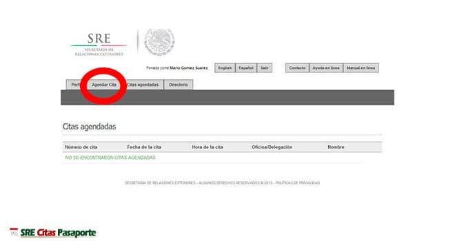 agendar pasaporte online