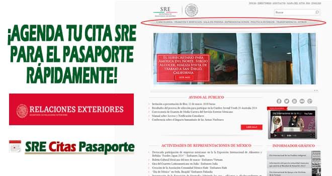 cita sre pasaporte online