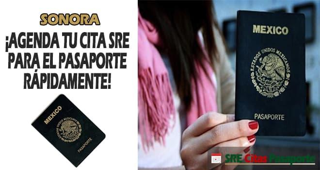 sre cita pasaporte Sonora